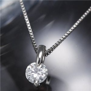 プラチナPt 0.2ctダイヤモンドペンダント/ネックレス DカラーVS2/エクセレント H&C(鑑定書付き 中央宝石研究所)  - 拡大画像