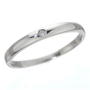 K18 ワンスターダイヤリング 指輪  K18ホワイトゴールド(WG)