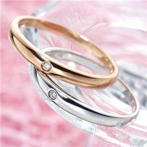 【訳あり・在庫処分】K18 ワンスターダイヤリング 指輪  K18ホワイトゴールド(WG)13号