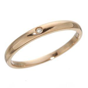 K18PG ワンスターダイヤモンドリング(指輪)18金ピンクゴールド 149144 19号 - 拡大画像