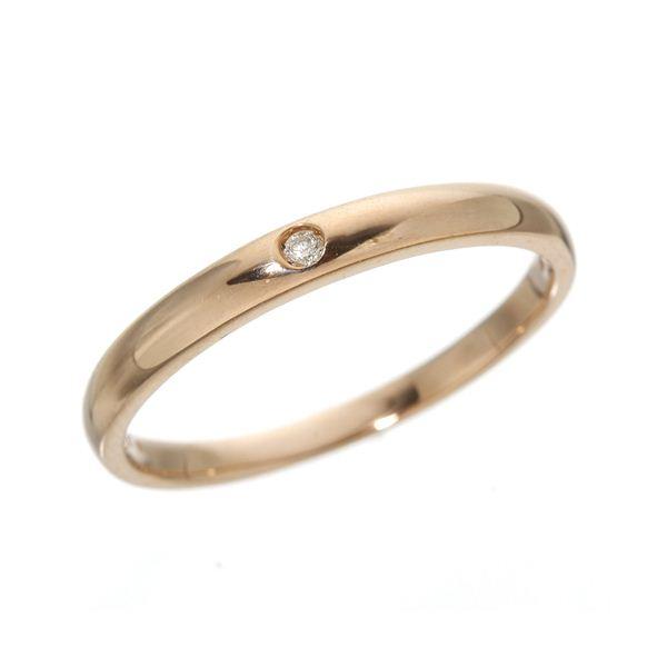 K18PG ワンスターダイヤリング 指輪 18金ピンクゴールド 149144 19号f00