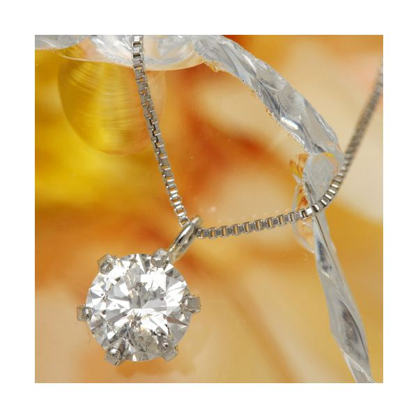 【ダイヤモンドローズジュエリーボックス付き】プラチナPt0.5ct ダイヤモンドヴェネチアンペンダント/ネックレス(鑑定書付き)