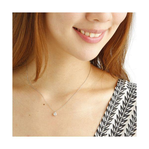 プラチナPt0.5ct ダイヤモンドヴェネチアンペンダント/ネックレス(鑑定書付き)のポイント1