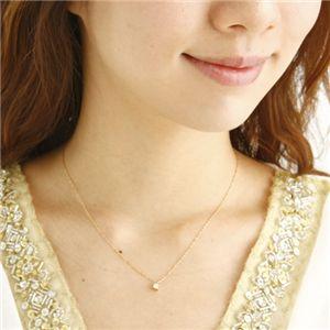 ダイヤモンドプリンセスカットペンダント イエローゴールド(ゴールド)の写真2