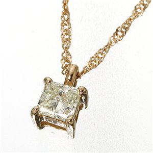 0.15ctダイヤモンドプリンセスカットペンダント/ピンクゴールド