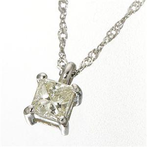 ダイヤモンドプリンセスカットペンダント プラチナ(シルバー)