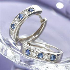 サファイヤダイヤモンドピアス