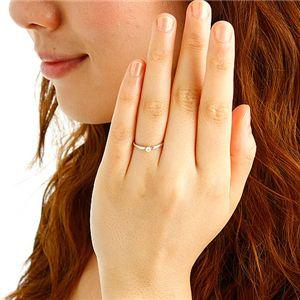 K18ダイヤリング 指輪 15号