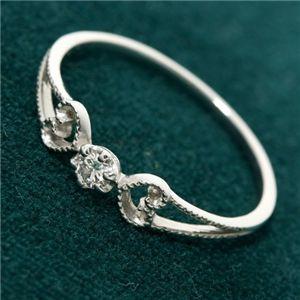 【訳あり・在庫処分】K18WG アンティーク調ダイヤリング 指輪