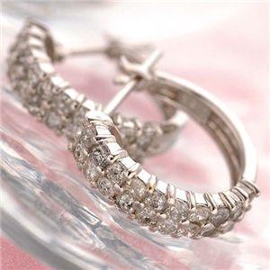 【受注生産発送】K18WG 計0.5ctダイヤモンド ハーフエタニティフープピアス(ホワイトゴールド) 87164
