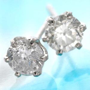 0.5ct ダイヤモンドピアス プラチナピアス - 拡大画像
