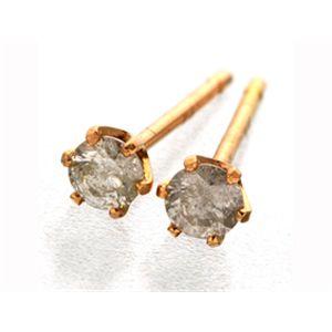 K18PG  ダイヤモンドピアス 0.1ct スタッドピアス h02
