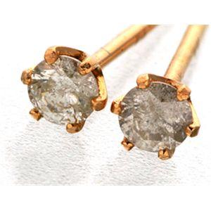 K18PG  ダイヤモンドピアス 0.1ct スタッドピアス h03