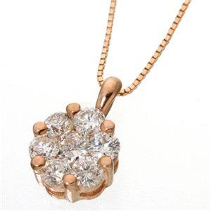 K18PG インビジブルセッティングダイヤモンドネックレス(18金ピンクゴールド)