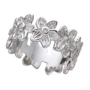 【訳あり・在庫処分】ハワイアンジュエリー プルメリアダイヤリング 指輪 193900 シルバー