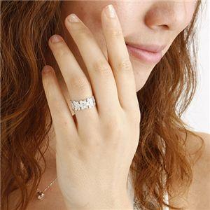 【訳あり・在庫処分】ハワイアンジュエリー プルメリアダイヤリング 指輪 193900 シルバー 9号