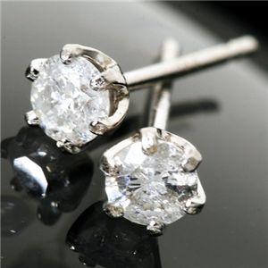 PT900 計0.2ctダイヤモンド一粒ピアス 150809 - 拡大画像