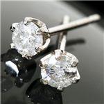 PT900 計0.2ctダイヤモンド一粒ピアス 150809