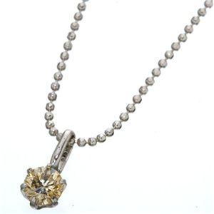 K18WG 0.3ctライトブラウンダイヤモンド一粒ネックレス(18金ホワイトゴールド)156586 42cm h02