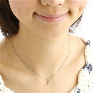 K18WG 0.3ctライトブラウンダイヤモンド一粒ネックレス(18金ホワイトゴールド)156586 42cm h03