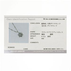 PT900 0.2ct一粒ダイヤモンドネックレス(プラチナ)42cm 鑑別カード付き