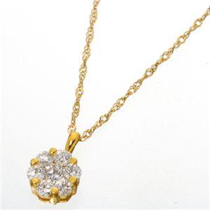K18YG インビジブルセッティングダイヤ ネックレス