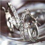 K18WG ダイヤモンド14石 計0.1ctエタニティピアス 160909(18金ホワイトゴールド)