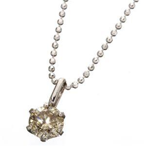 K18WG 0.5ctライトブラウンダイヤモンド 一粒ネックレス 150884 42cm