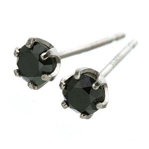 PT900 計0.4ctブラックダイヤモンドピアス(プラチナ)161923 h02