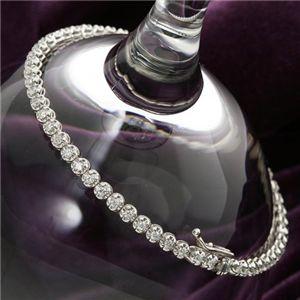シルバー 1ctダイヤモンドテニスブレス