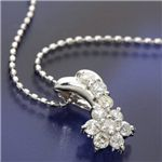 K18WG ダイヤモンドネックレス(18金ホワイトゴールド)177896 40cm