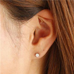 PT0.3ctダイヤモンドピアス サンシャインピアス HI1 プラチナ