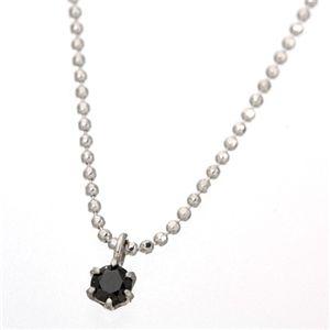 0.1ctブラックダイヤモンドプチネックレス h02