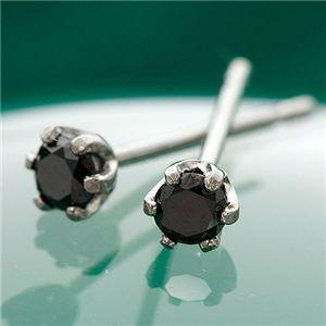 K18ブラックダイヤモンドピアス