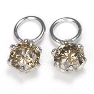 K18 0.2ctダイヤモンドチャーム ホワイト(WG)