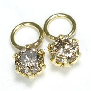 K18 0.2ctダイヤモンドチャーム イエロー(YG)