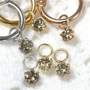 K18 0.2ctダイヤモンドチャーム ピンク(PG)