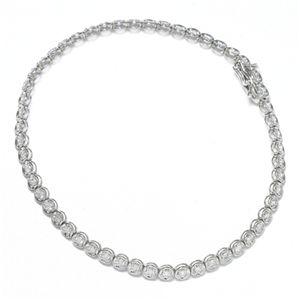 K18 1CTダイヤモンドテニスブレス WG(ホワイトゴールド) - 拡大画像