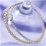 K18 1CTダイヤモンドテニスブレス WG(ホワイトゴールド)