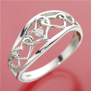 ダイヤリング 指輪 アンティーク調リング 19号 - 拡大画像