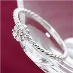 K18WGダイヤリング 指輪 7号