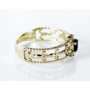 K14 0.15ct サファイアアンティークリング 指輪 9号