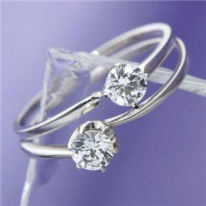 【受注生産発送】大きめだけPT900/0.3ctダイヤモンドリング 81608/6爪 81610/4爪