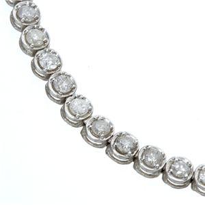 K18WG2ctダイヤモンドテニスブレスレット