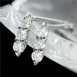 K10ダイヤモンドピアス トリプルピアス