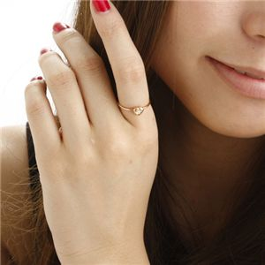 K10ハートダイヤリング 指輪 ピンクゴールド 9号 h03