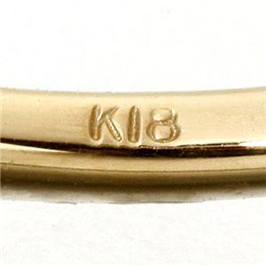 K18/twelveカラージュエルリング ブルートパーズ19号 h02
