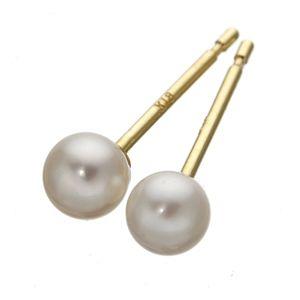 K18ベビーパールピアス 218706 (あこや真珠)