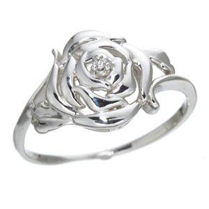 【訳あり・在庫処分】K10 ローズダイヤリング 指輪 9号 h02
