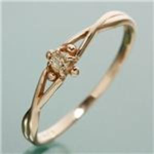 【訳あり・在庫処分】K18PG ダイヤリング 指輪 デザインリング